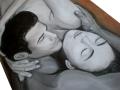 Dvojica v objatí obraz