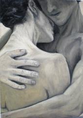 Objatie - ručne maľovaný obraz