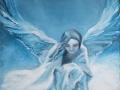 Anjel - olejomaľba