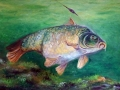 Kapor - rybársky maľovaný obraz