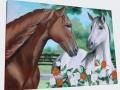 Maľovaný obraz kone