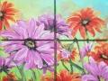 Viacdielny obaz kvetov