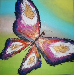 Maľovaný obraz - motýľ