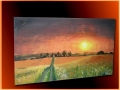 Maľovaný obraz krajinky