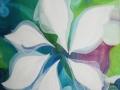Kvet - abstraktný ručne maľovaný obraz