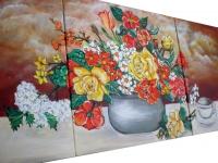 Kvety vo váze - obrazy