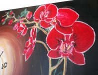 Červená orchidea obraz