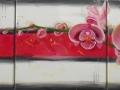 Viacdielny obraz - orchidea - ručne maľovaný
