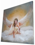 Obraz anjela - ručne maľovaný