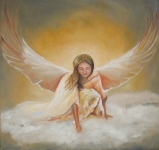 Anjel Ručne maľovaný obraz