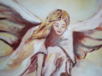 Anjel - ručne maľovaný obraz