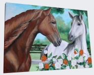 kone-malovany-obraz