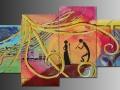 Hudobné variácie - maľovaný obraz