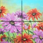 Viacdielny obraz - kvety
