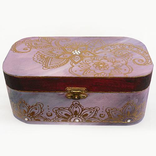 ručne maľovaná drevená krabička